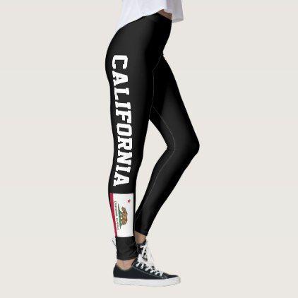 #California Republic flag sport & fitness leggings - #fitness #girl #fitspo #fit
