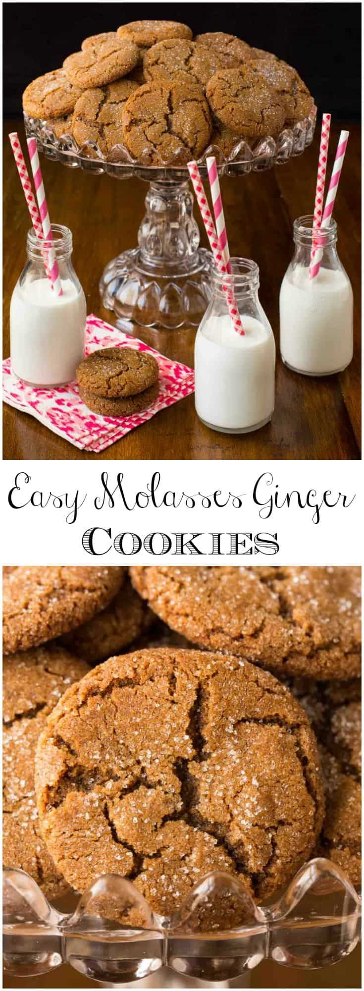 If you love baking and sharing delicious cookies but don't have a lot of time to fuss with fancy recipes, these Easy Molasses Ginger Cookies are for you via @cafesucrefarine