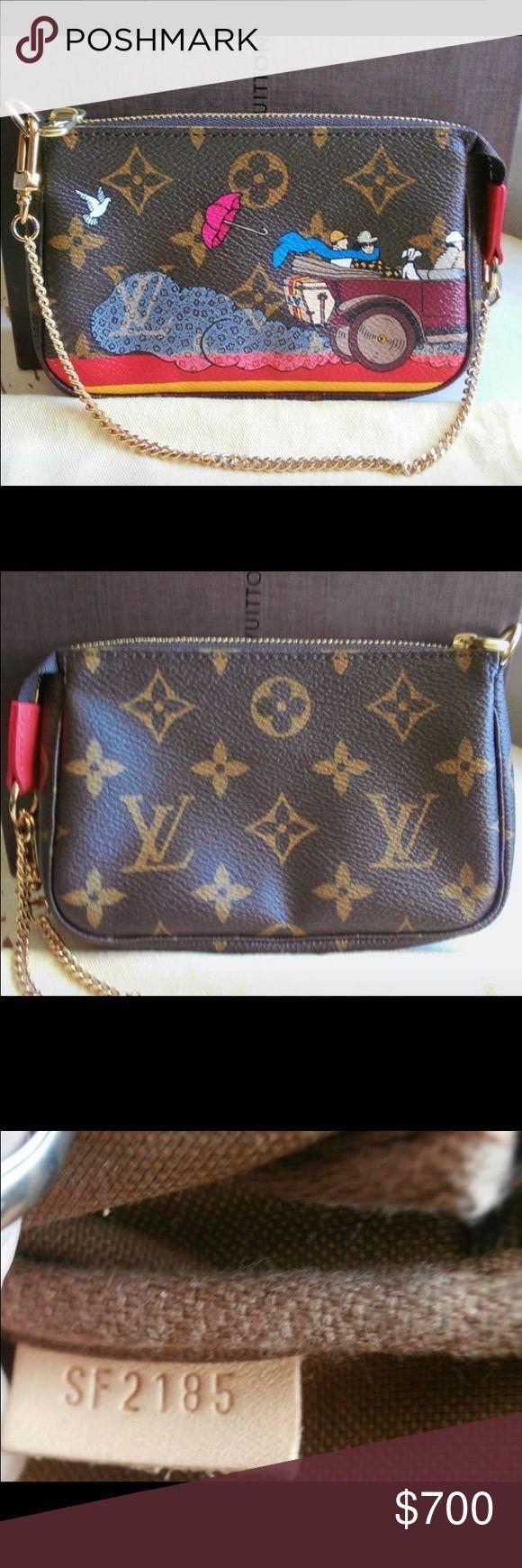 Louis Vuitton pochette Beautiful 100% authentic Louis Vuitton bag! SOLD OUT! Rare bag! New bag never worn! Louis Vuitton Bags