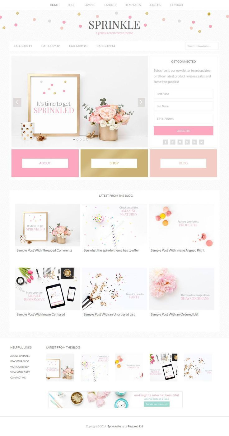 Sprinkle Girly Blog WordPress Theme - WPExplorer