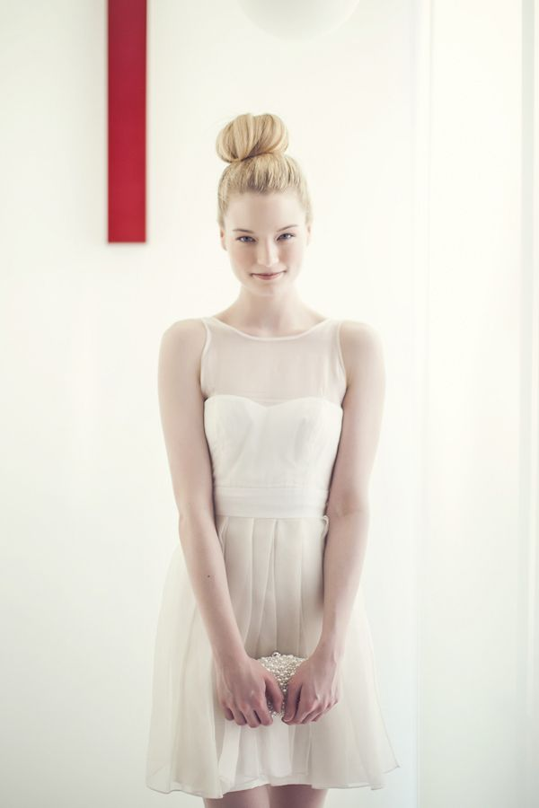 Ciarla Bride Cheri Dress, photo by Studio Uma | via junebugweddings.com #shortweddingdress