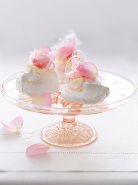 Rosewater Meringues with Fairy Floss from High Tea, RRP $32.95, available where all good books are sold and online at www.magshop.com.au Photographer: Louise Lister