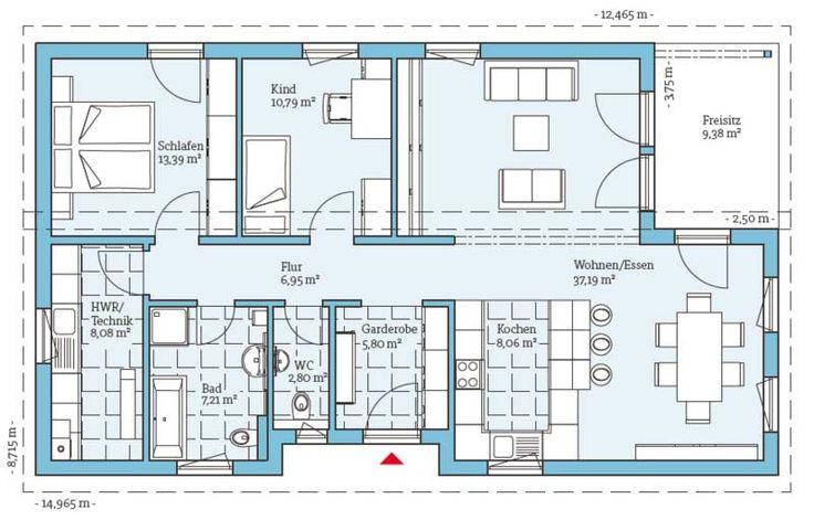 20 best grundriss haus images on pinterest grundrisse for Zweifamilien bungalow grundriss