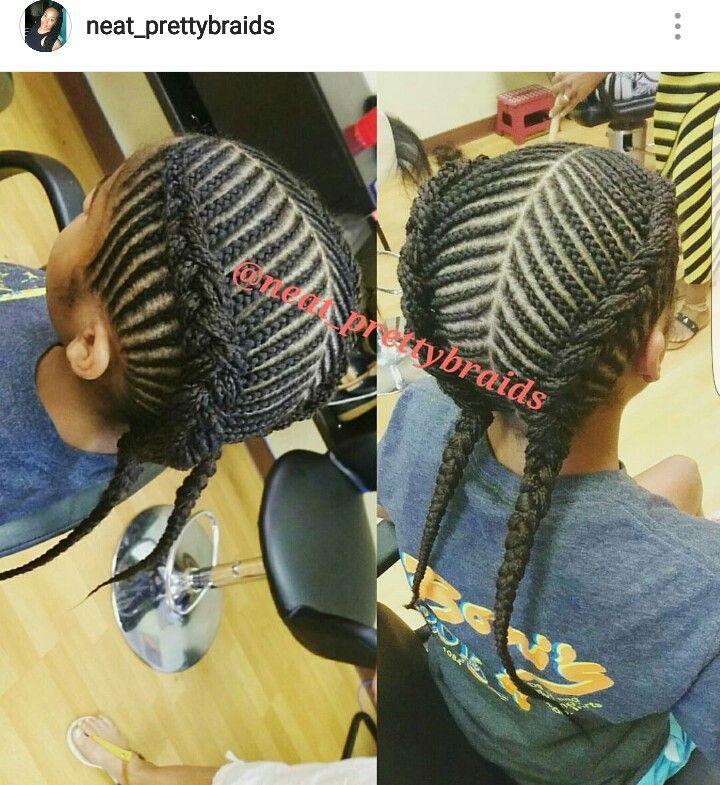 Cornrows braided into 2 big Cornrow braids #braids #braided #girls #hairstyle