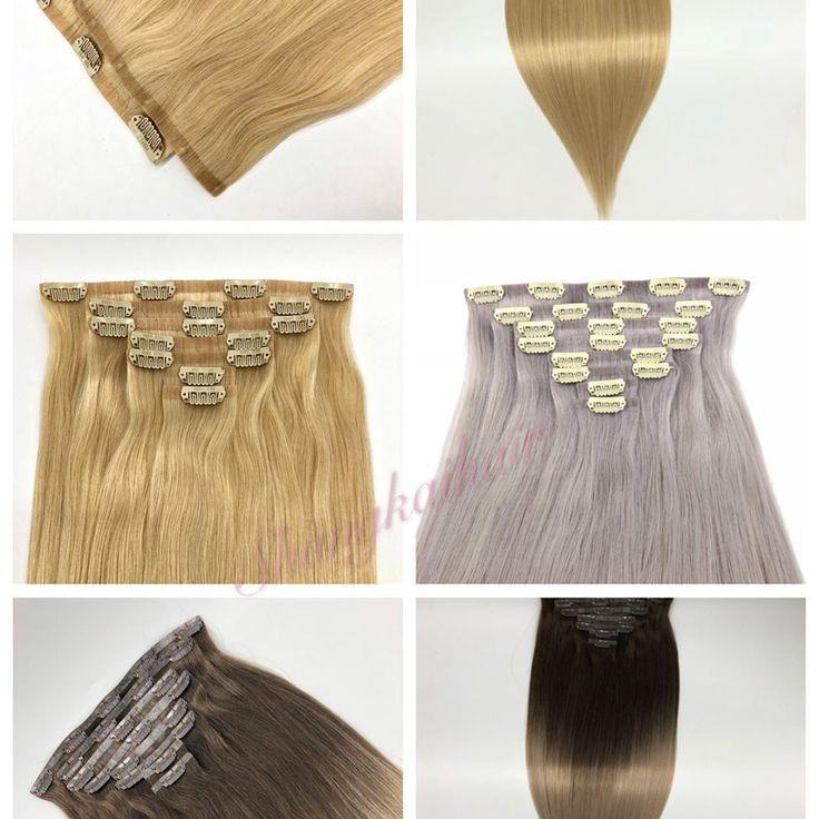 Klipp im Haar, kann 10-30inch tun, kann jede kundengebundene Farbe tun, WhatsApp: +8615469775739 Wir können viele Fotos unserer Produkte machen, die setzen ...