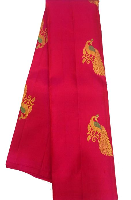 Pink Handloom Kanjeevaram Pure Silk Saree