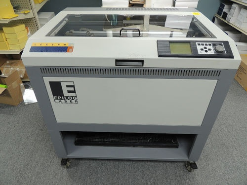 Epilog Laser Engraver for sale by owner on Ebay. This Epilog Legend 32 Laser Engraver features 100 Watts of power, a Double Head attachment, Air Assist, Cutting Grid & Computer that's already loaded with print drivers & a copy of Corel X3. Everything you need for a quick & easy setup!