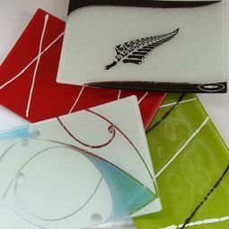 Glossy Fused Glass Plates