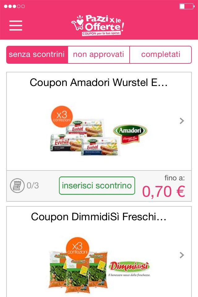 Carica la prova d'acquisto #coupon #offerte
