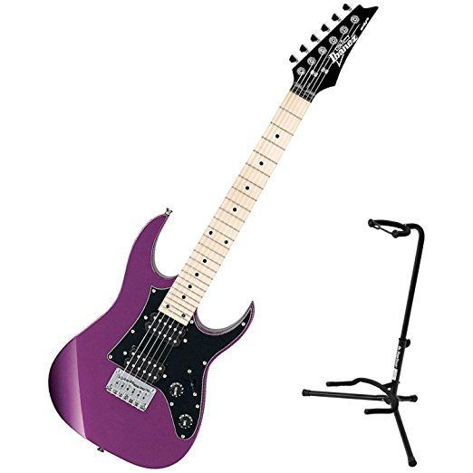 Ibanez GRGM21MMPL Metallic Purple miKro Series 3/4-Scale Mini Electric Guitar w/ Stand    Ibanez Electric Guitar  Electric Guitar Kits  Hollow Body Electric Guitar  Kids Electric Guitar  Kids Acoustic Guitar  Jackson Guitars  Electric Guitar For Kids  Martin Guitars For Sale  Guitar Neck  Jackson Electric Guitar