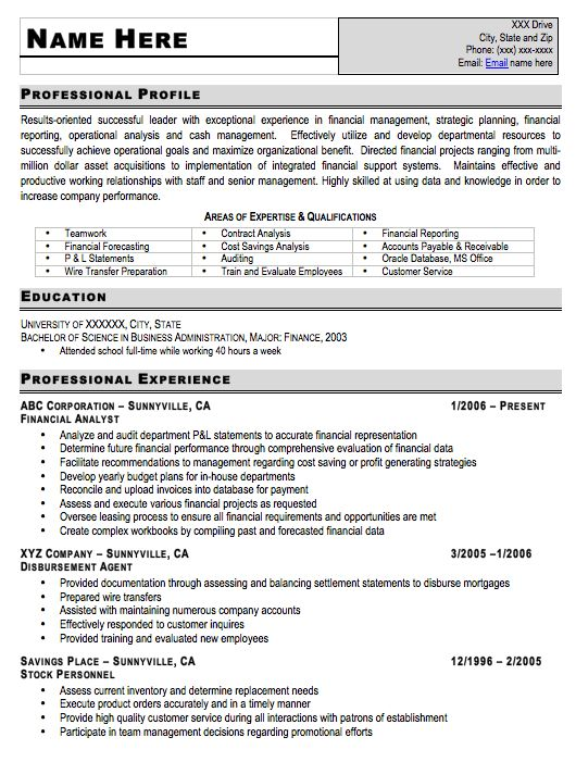 11 best Resume Samples images on Pinterest Sample resume Resume