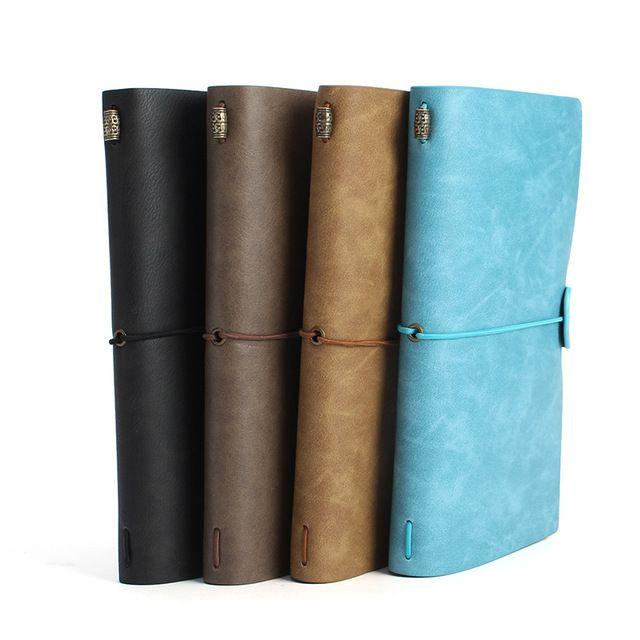 Kicute 1 pc Vintage Skórzana Okładka Notebooki Notebook Diary Czasopisma Agenda Sketchbook Puste Papier Pakowy Ręcznie Podróży Prezent