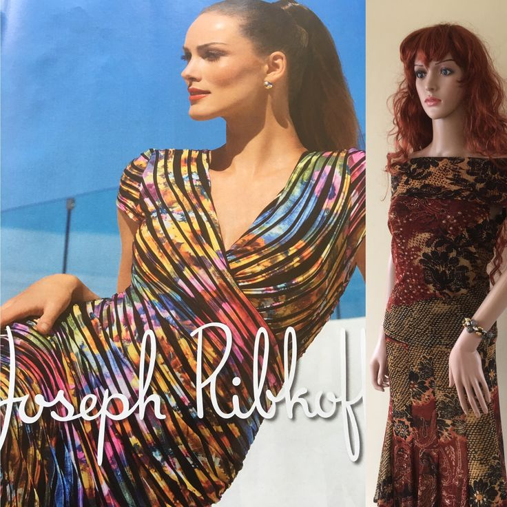 SPICE UP YOUR SUMMER with this Joseph Ribkoff skirt & blouse visit me at www.classycloset.co.uk