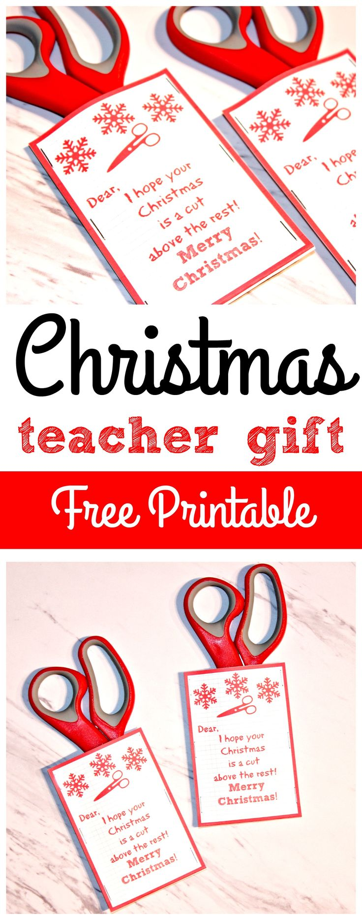 If you are looking for an easy and quick teacher Christmas gift idea look no further! This easy and cheap teacher Christmas gift is both practical and fun with a free printable!