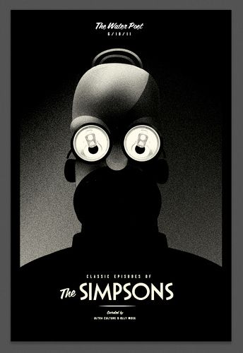 I made a poster for a charity screening of some classic Simpsons Episodes.  www.ultraculture.co.uk/simpsons