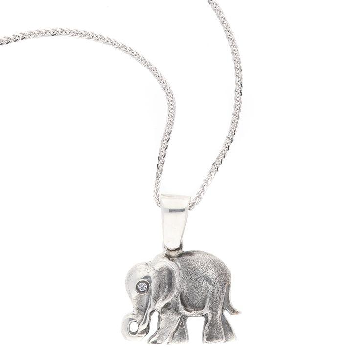 Silver Elephant Pendant    www.uwekoetter.com