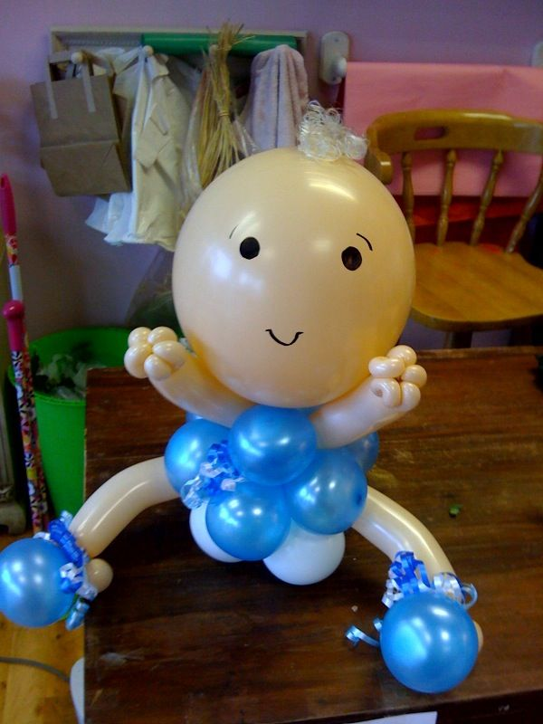 Pin by daynna galvan wong on baby shower ideas pinterest for Balloon baby shower decoration
