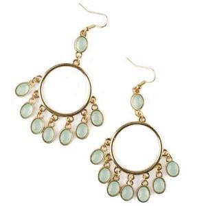 JEN'S CLUB CHANDELIER EARRINGS - MINT & GOLD-TONE $14.98  Shop the new Jen's Club catalogue online at     www.mdeboer.shopregal.ca