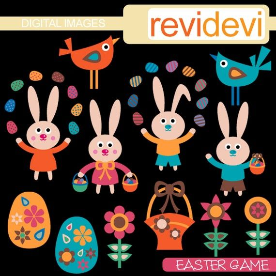 Easter Game 08097  Digital Images  Cute Clipart for by revidevi