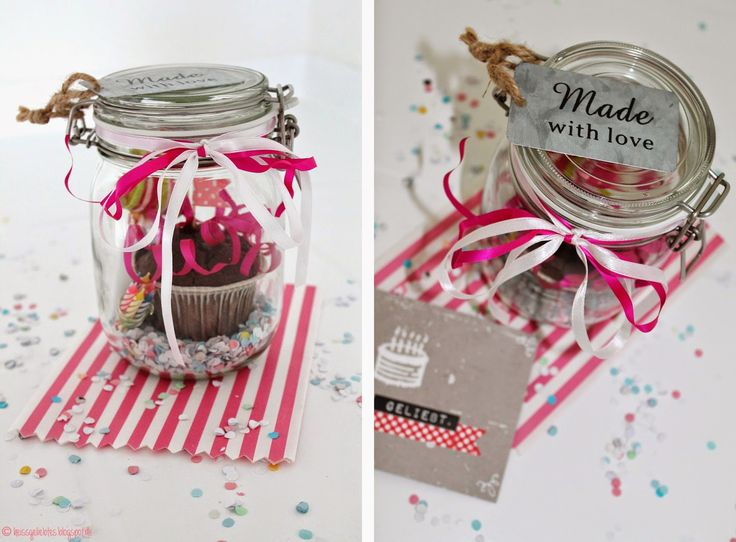 DIY Birthday in a Jar - Geburtstag im Glas Muffin Gift ...