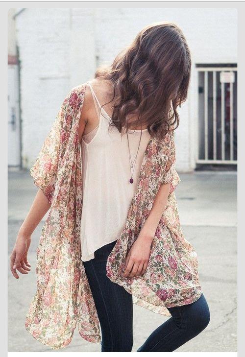 Feminine patterns and flowy fabrics.