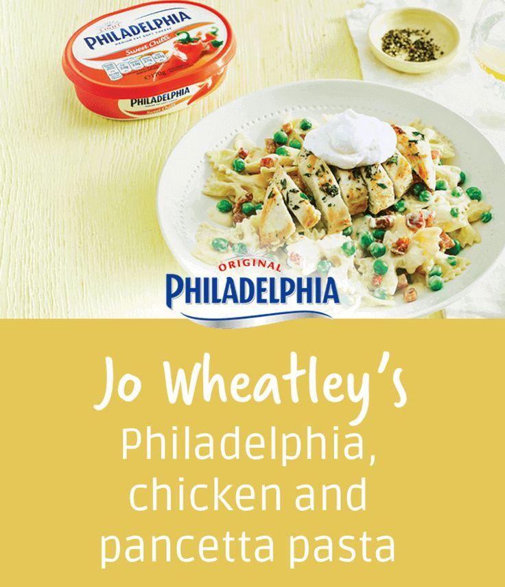 Jo Wheatley's Philadelphia, chicken and pancetta pasta