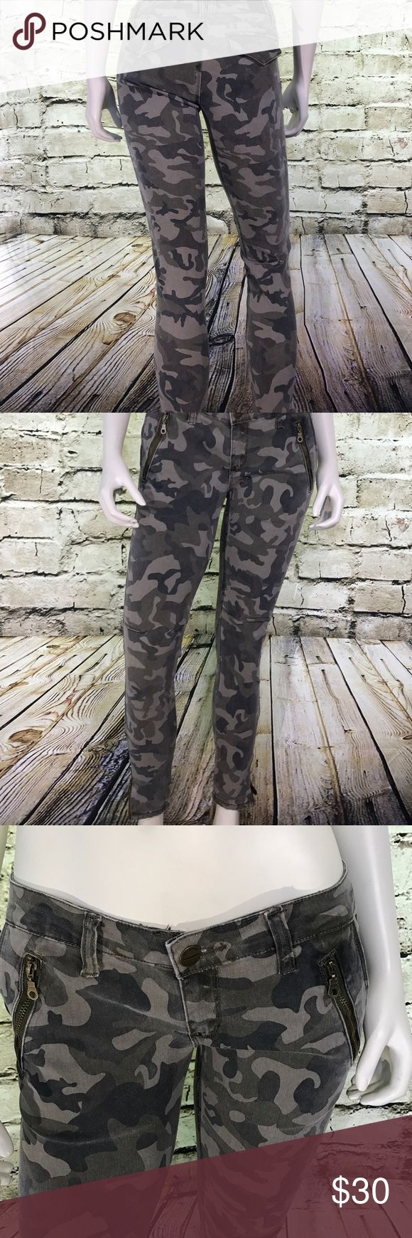 Camouflage skinny jeans Camouflage skinny jeans with zipper pockets -zipper ankles Line Denim Jeans Skinny