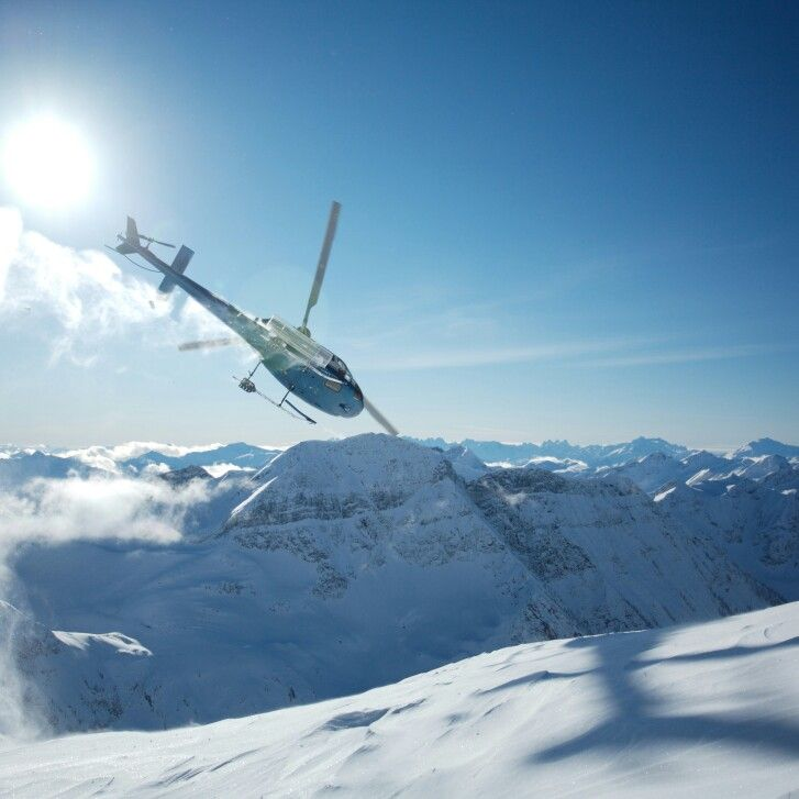 How epic is this?! Have you heli skied before? #snowboard  #powder  #winterwonderland  #ski