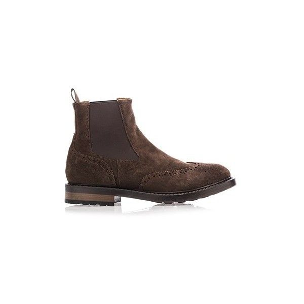 OFFICINE CREATIVE Chelsea Boots (4,325 CNY) ❤ liked on Polyvore featuring men's fashion, men's shoes, men's boots, brown, mens vintage leather boots, mens leather chelsea boots, mens brown boots, mens vintage leather shoes and mens vintage boots