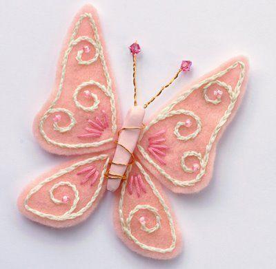 Бабочки из фетра another felt butterfly sample