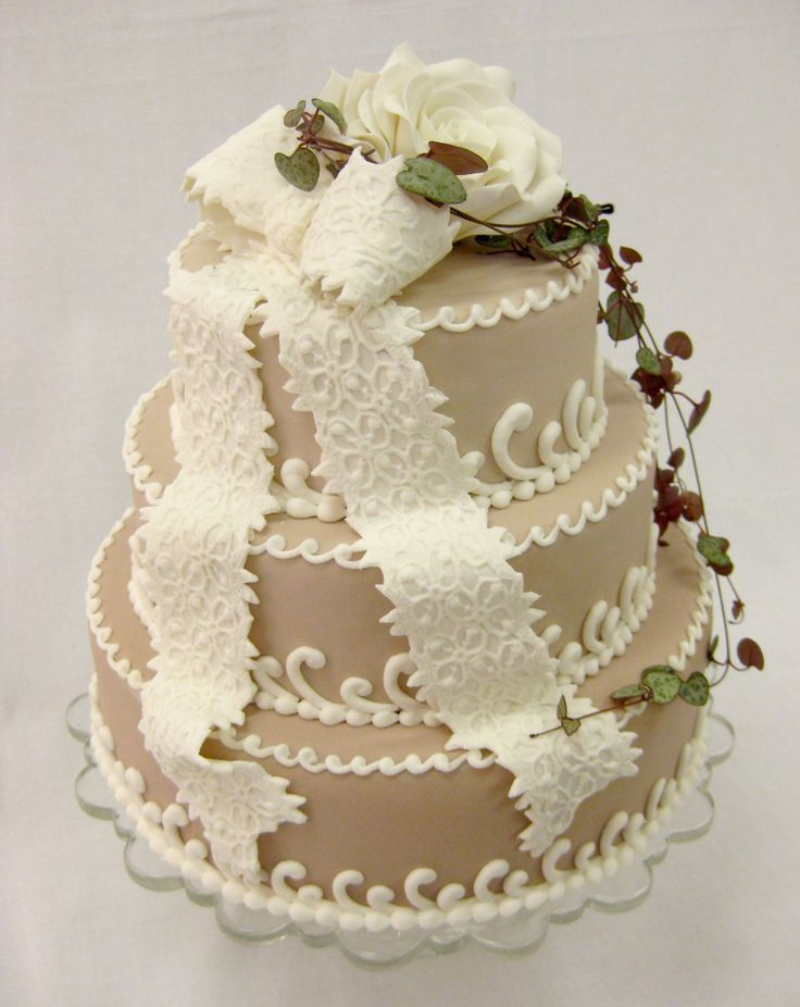 shabby chic wedding cake ideas shabby chic cake with bow vintage cakes 19767