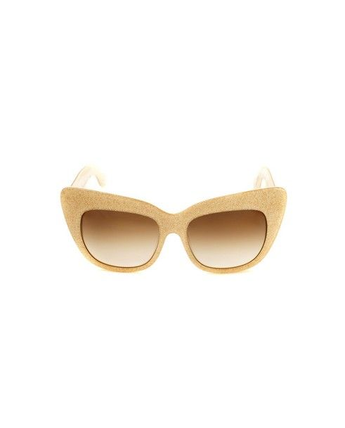 ANNA-KARIN KARLSSON Sunglasses Alice Goes to Cannes gold variant graded black lenses acetated material provided with case and box