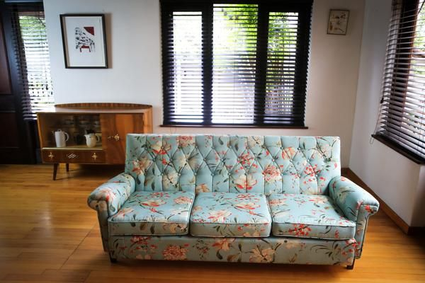Recovered Mid Century Couch