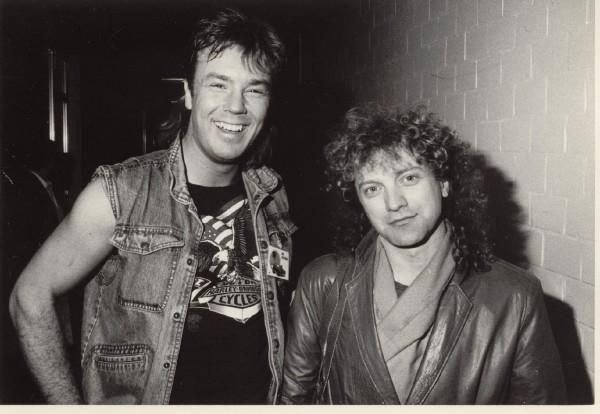 Lou Gramm and Jack White (the drummer) Foreigner 1985-11-08 Reunion Arena Dallas,TX