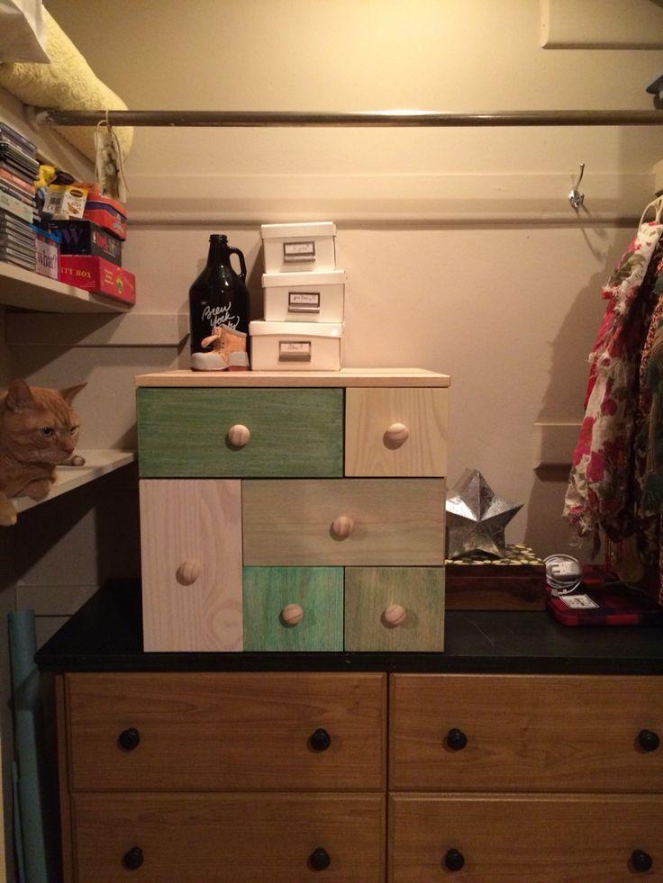 New IKEA dresser got a facelift for additional closet storage.