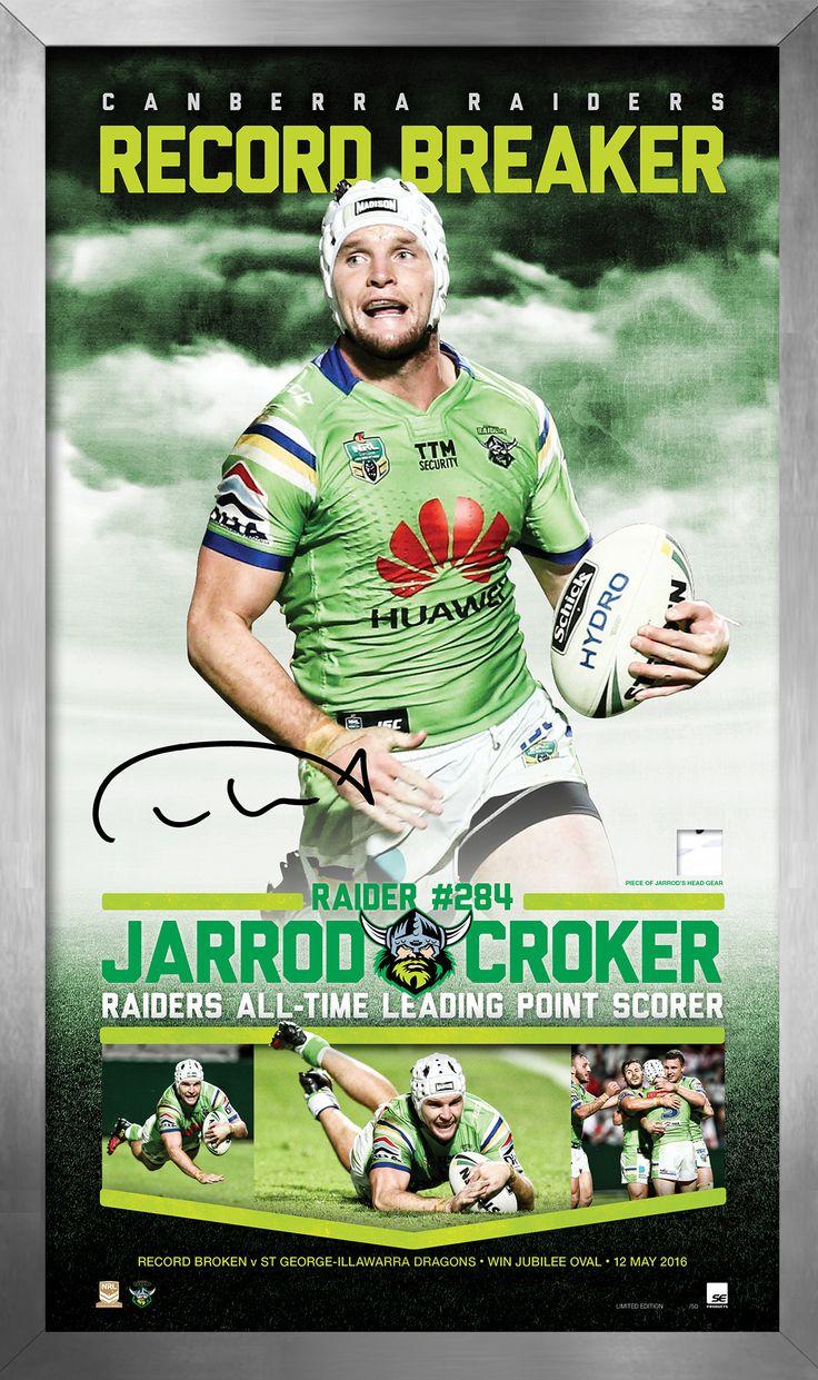 Jarrod Croker 'RECORD BREAKER' Limited Edition Memorabilia