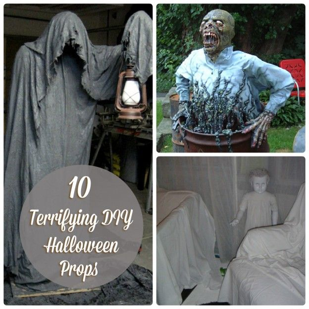 280 best halloween images on pinterest halloween crafts for Scary halloween home decorations