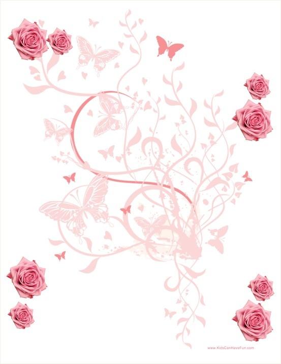 245 best images about clip art stationary printables on pinterest free printable floral and. Black Bedroom Furniture Sets. Home Design Ideas