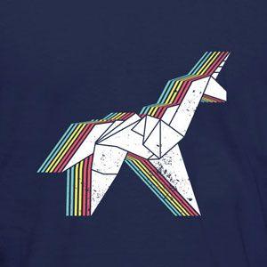 """Origami Unicorn t-shirt. Inspired by the 1982 movie """"Blade Runner"""". #tshirt #bladerunner #unicorn"""