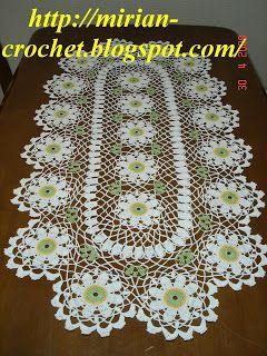 ஜMirian-receitas de crochêஜ: Caminho de mesa