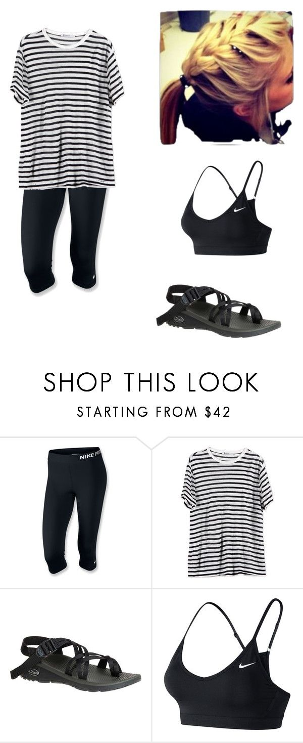 """Trampoline Park Outfit"" by addiboo03 on Polyvore featuring NIKE, T By Alexander Wang and Chaco"