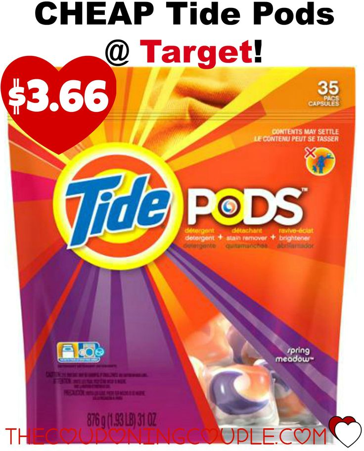 **PRINT THIS**$3/1 Tide Pods Coupon + HOT Target Deal! There is an incredible deal at Target this week on Tide Pods that you'll definitely want to grab. This coupon may go fast with the deal so get yours now and pay just $3.66 for 35 Pods!  Click the link below to get all of the details ► http://www.thecouponingcouple.com/cheap-tide-pods-thru-95/ #Coupons #Couponing #CouponCommunity  Visit us at http://www.thecouponingcouple.com for more great posts!
