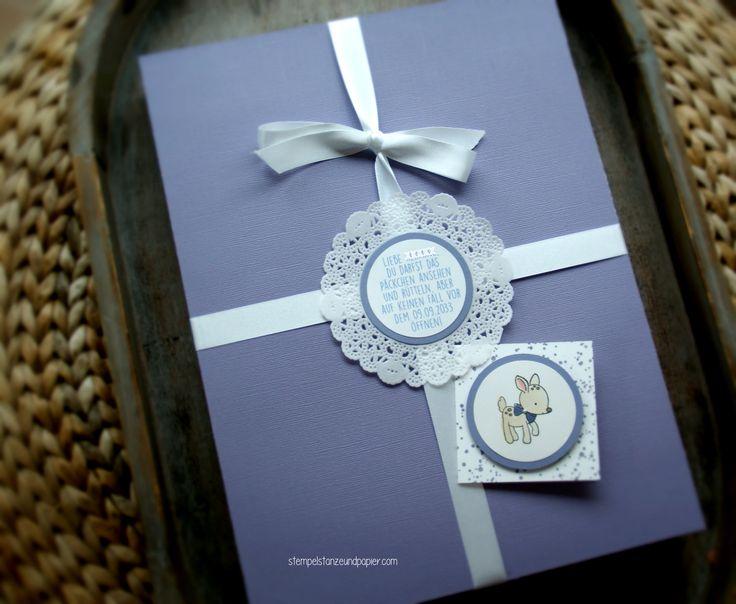 Verpackung für einen Pressespiegel vom Tag der Geburt-erst öffnen am 18. Geburtstag - Stampin' Up! - Verpackung mit dem Simply Scored Falzbrett