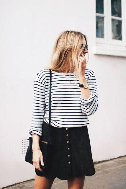 Como usar falda con botones. | Moderna Strega