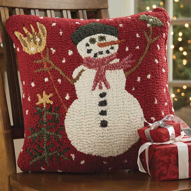 Just found this Holiday Pillows - Mr. Snowman Handhooked Pillow -- Orvis on Orvis.com!