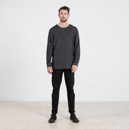 Sweater in Charcoal Grey #dorsu #autumncollection #newcollection #menswear #fashion #basics #fashionessentials #cotton #ethicalfashion #tee #ethical #fair #wellmade #quality #comfort #black #minimal #modern #longsleeve #tshirt #winter17 #winter #aperfectday #perfectday #t-shirt #tshirt #simple #charcoal #sweater #crew #cotton #jersey #monochrome