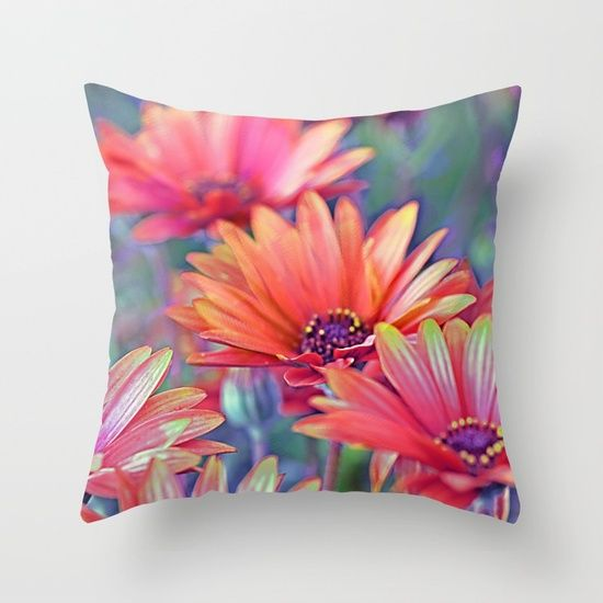 Vintage asters (2) Throw Pillow