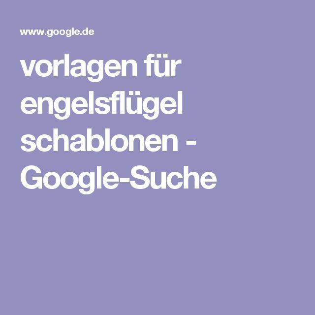 vorlagen für engelsflügel schablonen - Google-Suche