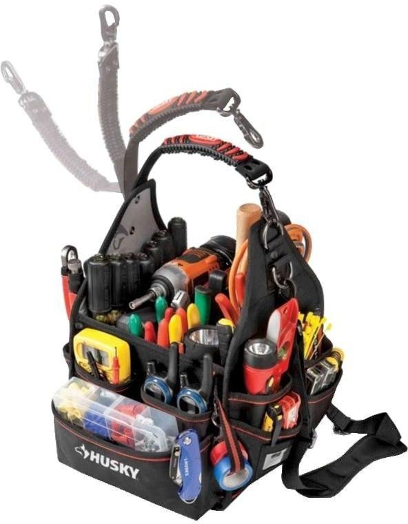 Home And Garden Husky 10 In Electrician Bag With Driver Wall Tool Storage New Electrician Tool Bag Electrician Tools Tool Bag