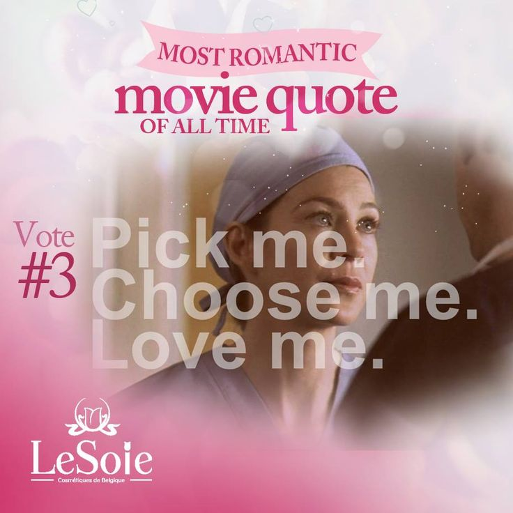 Choose the best love quote for you  Greys anatomy
